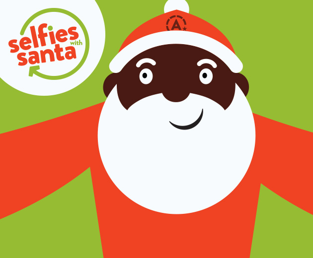 Selfies with Santa! December 10th, 11 - 2 pm